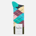Носки Happy Socks Argyle Blue/Green/Pink/Purple/Turquoise фото- 0