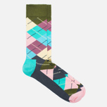 Носки Happy Socks Argyle Blue/Green/Pink/Purple/Turquoise фото- 1
