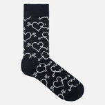 Happy Socks Arrow & Heart Socks Black photo- 1