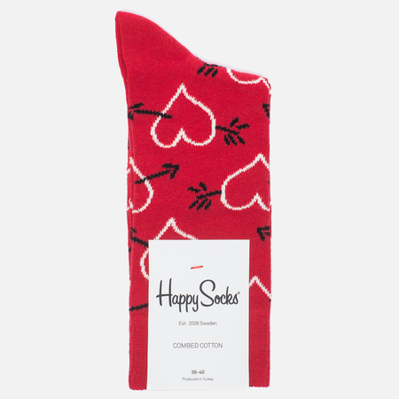 Happy Socks Arrow & Heart Socks Red