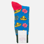 Носки Happy Socks BBC Diamonds & Dollar Green/Red/Yellow фото- 0