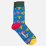 Носки Happy Socks BBC Diamonds & Dollar Green/Red/Yellow фото- 1