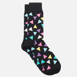 Носки Happy Socks Big Triangle Black/Blue/Pink/Purple/White/Yellow фото- 1