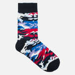 Носки Happy Socks Camo Black/Blue/Red фото- 1