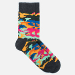 Носки Happy Socks Camo Black/Orange/Yellow фото- 1