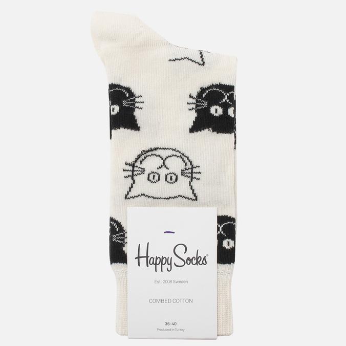 Носки Happy Socks Cat Black/White