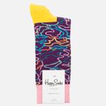 Happy Socks Electric Camo Socks Orange/Pink/Purple/Yellow photo- 0