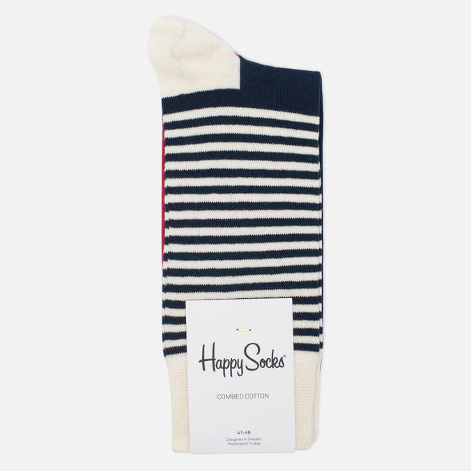 Носки Happy Socks Half Stripe Blue/Red/White