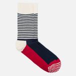 Носки Happy Socks Half Stripe Blue/Red/White фото- 1