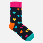 Happy Socks Heart Socks Blue/Orange/Pink/Yellow photo- 1