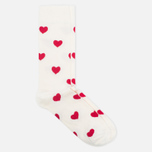 Носки Happy Socks Heart Red/White фото- 1