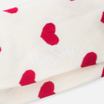 Носки Happy Socks Heart Red/White фото- 2