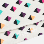 Happy Socks Mini Diamond Low Socks White/Multicolour photo- 2