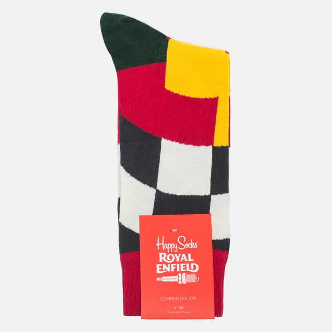 Носки Happy Socks Royal Enfield Big Flag Limited Edition Blue/Green/Red/White/Yellow