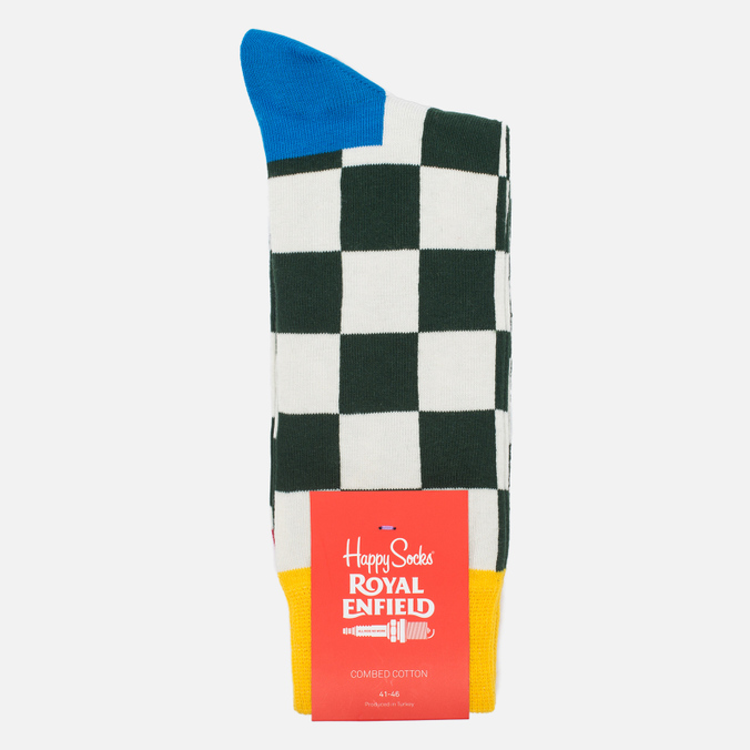 Happy Socks Royal Enfield Flag Limited Edition Socks Blue/Green/Red/White/Yellow
