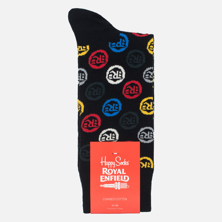 Носки Happy Socks Royal Enfield Logo Limited Edition Black/Blue/Green/Red/White/Yellow