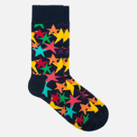 Носки Happy Socks Stars Blue/Green/Orange/Pink/Purple/Yellow фото- 1