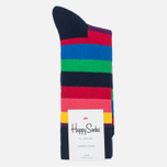 Носки Happy Socks Stripe Blue/Green/Pink/Purple/Red/Yellow фото- 0