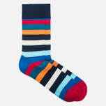 Носки Happy Socks Stripe Blue/Orange/Red/Turquoise/White фото- 1