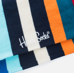 Носки Happy Socks Stripe Blue/Orange/Red/Turquoise/White фото- 2