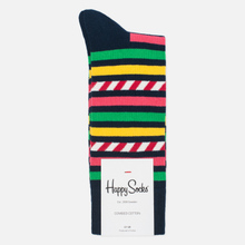 Носки Happy Socks Stripes & Stripes Blue/Green/Pink/Red/White/Yellow фото- 0
