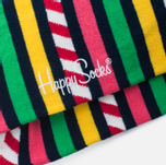 Носки Happy Socks Stripes & Stripes Blue/Green/Pink/Red/White/Yellow фото- 2