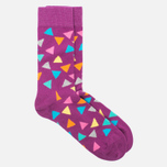 Носки Happy Socks Triangle Gray/Orange/Pink/Purple/Yellow фото- 1