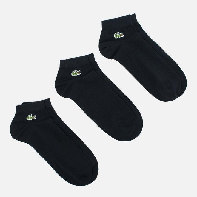 Комплект мужских носков Lacoste 3-Pack Sport Low-Cut Black
