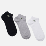 Носки Lacoste 3 Pair White/Black/Grey фото- 1