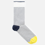 Мужские носки Democratique Socks Originals Mini Striper Broken White/Navy/Bright Yellow фото- 1