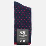 Democratique Socks Originals Polkadot Men's Socks Navy/Spring Red photo- 0