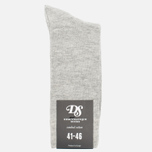 Мужские носки Democratique Socks Originals Solid Light Grey Melange фото- 0