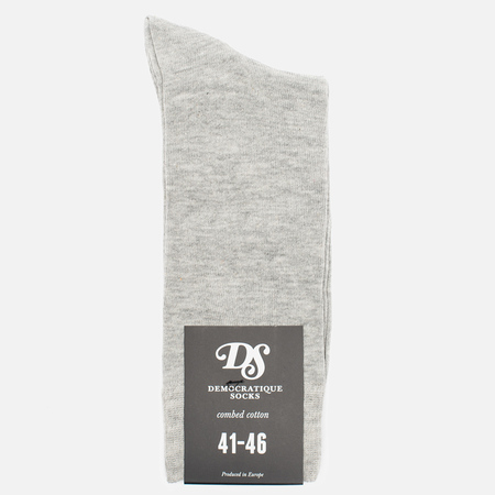 Мужские носки Democratique Socks Originals Solid Light Grey Melange