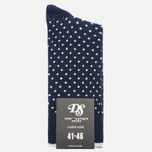 Мужские носки Democratique Socks Originals Polkadot Navy/Broken White фото- 0