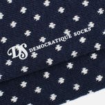 Мужские носки Democratique Socks Originals Polkadot Navy/Broken White фото- 2