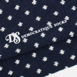 Democratique Socks Originals Polkadot Men's Socks Navy/Broken White photo- 2