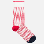 Мужские носки Democratique Socks Originals Ziggerzagger Spring Red/Broken White/Navy фото- 1