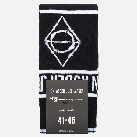 Мужские носки Democratique Socks x Asger Juel Larsen Black/White