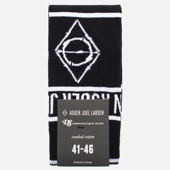 Democratique Socks x Asger Juel Larsen Men's Socks Black/White
