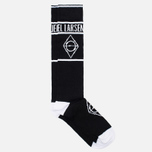 Democratique Socks x Asger Juel Larsen Men's Socks Black/White photo- 1