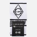 Мужские носки Democratique Socks x Asger Juel Larsen White/Black фото- 0