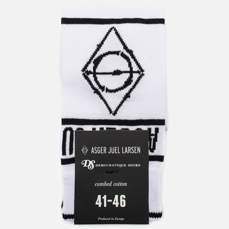 Мужские носки Democratique Socks x Asger Juel Larsen White/Black