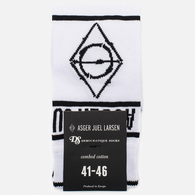 Мужские носки Democratique Socks x Asger Juel Larsen White/Black