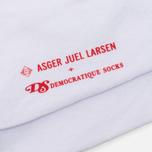 Мужские носки Democratique Socks x Asger Juel Larsen White/Black фото- 2