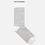 Мужские носки Democratique Socks x Garment Project Mini Striper Off White/Navy фото- 1