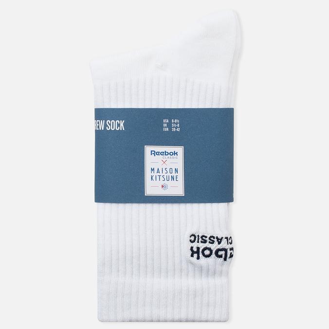 Мужские носки Reebok x Maison Kitsune CL White