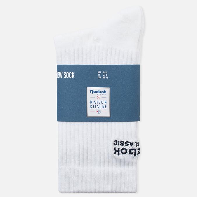 Reebok x Maison Kitsune CL Men's Socks White