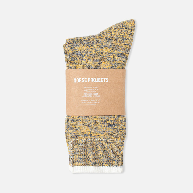 Norse Projects Bjarki Blend Men's Socks Mustard Yellow