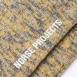 Norse Projects Bjarki Blend Men's Socks Mustard Yellow photo- 2