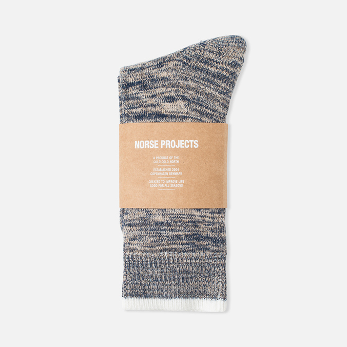 Мужские носки Norse Projects Bjarki Blend Navy